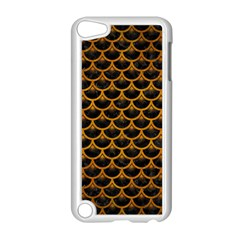 Scales3 Black Marble & Yellow Grunge (r) Apple Ipod Touch 5 Case (white)