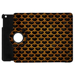 Scales3 Black Marble & Yellow Grunge (r) Apple Ipad Mini Flip 360 Case