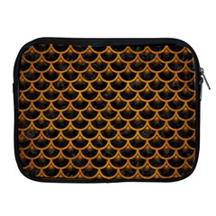Scales3 Black Marble & Yellow Grunge (r) Apple Ipad 2/3/4 Zipper Cases