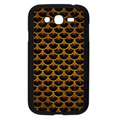 Scales3 Black Marble & Yellow Grunge (r) Samsung Galaxy Grand Duos I9082 Case (black)