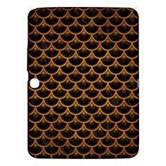 Scales3 Black Marble & Yellow Grunge (r) Samsung Galaxy Tab 3 (10 1 ) P5200 Hardshell Case