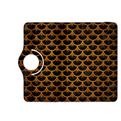 Scales3 Black Marble & Yellow Grunge (r) Kindle Fire Hdx 8 9  Flip 360 Case