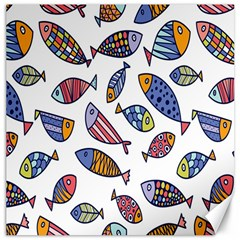 Love Fish Seaworld Swim Rainbow Cartoons Canvas 20  X 20