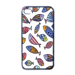 Love Fish Seaworld Swim Rainbow Cartoons Apple Iphone 4 Case (black)