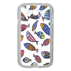 Love Fish Seaworld Swim Rainbow Cartoons Samsung Galaxy Grand Duos I9082 Case (white)