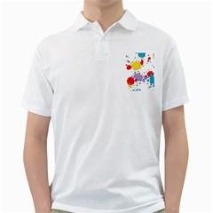 Paint Splash Rainbow Star Golf Shirts