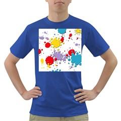 Paint Splash Rainbow Star Dark T Shirt