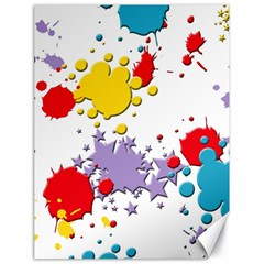 Paint Splash Rainbow Star Canvas 18  X 24
