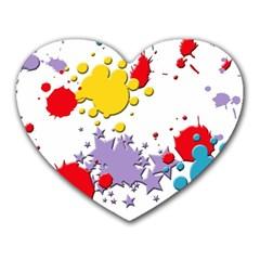Paint Splash Rainbow Star Heart Mousepads