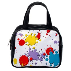 Paint Splash Rainbow Star Classic Handbags (one Side)