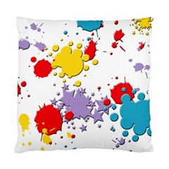 Paint Splash Rainbow Star Standard Cushion Case (two Sides)