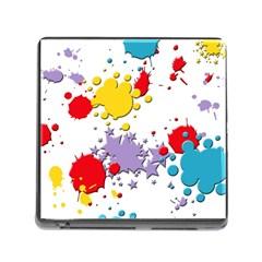 Paint Splash Rainbow Star Memory Card Reader (square)