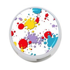 Paint Splash Rainbow Star 4 Port Usb Hub (one Side)