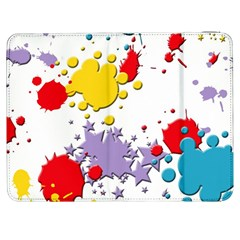 Paint Splash Rainbow Star Samsung Galaxy Tab 7  P1000 Flip Case