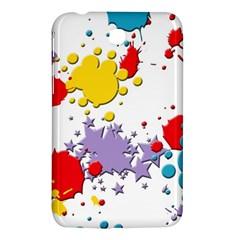 Paint Splash Rainbow Star Samsung Galaxy Tab 3 (7 ) P3200 Hardshell Case