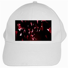 Lying Red Triangle Particles Dark Motion White Cap