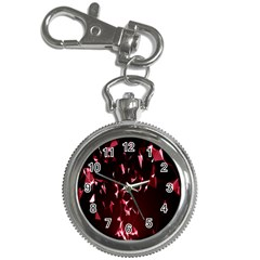 Lying Red Triangle Particles Dark Motion Key Chain Watches