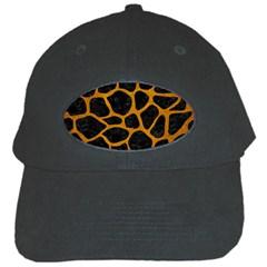 Skin1 Black Marble & Yellow Grunge Black Cap