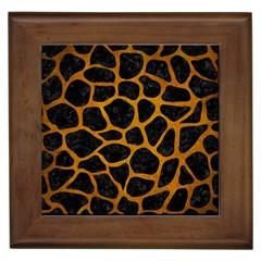Skin1 Black Marble & Yellow Grunge Framed Tiles
