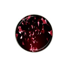 Lying Red Triangle Particles Dark Motion Hat Clip Ball Marker