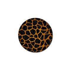 Skin1 Black Marble & Yellow Grunge Golf Ball Marker (10 Pack)