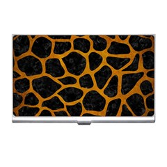 Skin1 Black Marble & Yellow Grunge Business Card Holders