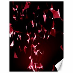 Lying Red Triangle Particles Dark Motion Canvas 12  X 16