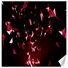 Lying Red Triangle Particles Dark Motion Canvas 20  X 20