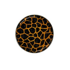 Skin1 Black Marble & Yellow Grunge Hat Clip Ball Marker