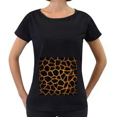 Skin1 Black Marble & Yellow Grunge Women s Loose Fit T Shirt (black)
