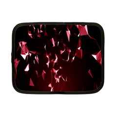Lying Red Triangle Particles Dark Motion Netbook Case (small)