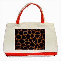 Skin1 Black Marble & Yellow Grunge Classic Tote Bag (red)