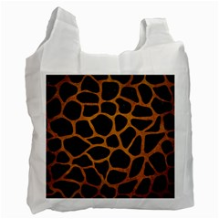 Skin1 Black Marble & Yellow Grunge Recycle Bag (two Side)