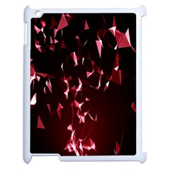 Lying Red Triangle Particles Dark Motion Apple Ipad 2 Case (white)