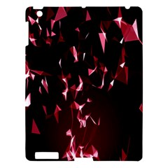 Lying Red Triangle Particles Dark Motion Apple Ipad 3/4 Hardshell Case