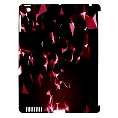 Lying Red Triangle Particles Dark Motion Apple Ipad 3/4 Hardshell Case (compatible With Smart Cover)