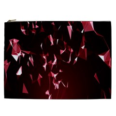 Lying Red Triangle Particles Dark Motion Cosmetic Bag (xxl)