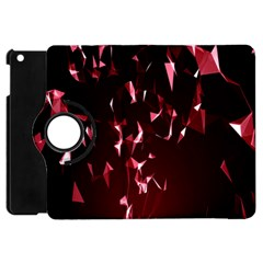 Lying Red Triangle Particles Dark Motion Apple Ipad Mini Flip 360 Case