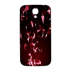 Lying Red Triangle Particles Dark Motion Samsung Galaxy S4 I9500/i9505  Hardshell Back Case