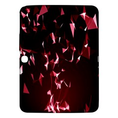 Lying Red Triangle Particles Dark Motion Samsung Galaxy Tab 3 (10 1 ) P5200 Hardshell Case