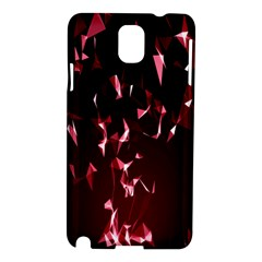 Lying Red Triangle Particles Dark Motion Samsung Galaxy Note 3 N9005 Hardshell Case