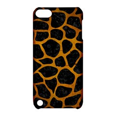 Skin1 Black Marble & Yellow Grunge Apple Ipod Touch 5 Hardshell Case With Stand