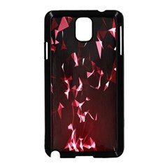 Lying Red Triangle Particles Dark Motion Samsung Galaxy Note 3 Neo Hardshell Case (black)