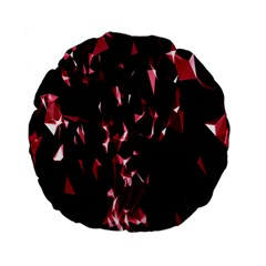 Lying Red Triangle Particles Dark Motion Standard 15  Premium Flano Round Cushions