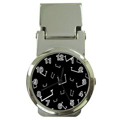 Pit White Black Sign Pattern Money Clip Watches