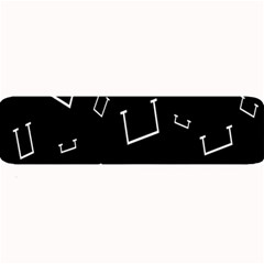 Pit White Black Sign Pattern Large Bar Mats