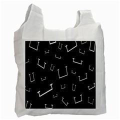 Pit White Black Sign Pattern Recycle Bag (one Side)