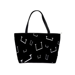 Pit White Black Sign Pattern Shoulder Handbags