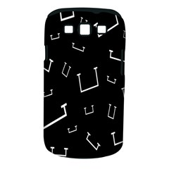 Pit White Black Sign Pattern Samsung Galaxy S Iii Classic Hardshell Case (pc+silicone)