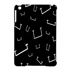 Pit White Black Sign Pattern Apple Ipad Mini Hardshell Case (compatible With Smart Cover)